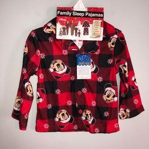 Disney Mickey Mouse Christmas Pajama Top